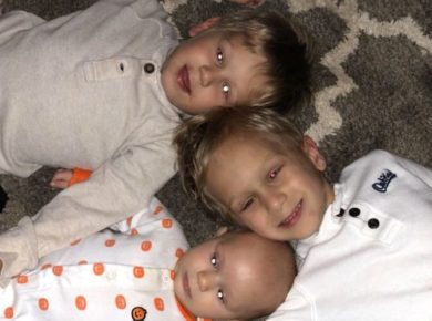 3 young brothers fighting the same childhood cancer